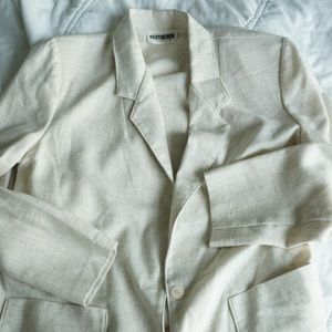 Vintage linen like cream blazer